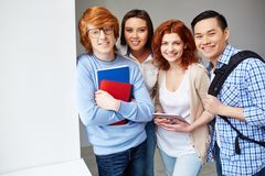 Cheerful students Stock Images
