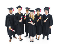 Cheerful and Successful Graduating Students Royalty Free Stock Photos