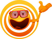 Cheerful sun character showing Royalty Free Stock Photography