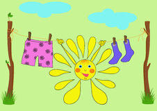 The cheerful sun Stock Photo