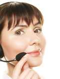 Cheerful support phone operator Royalty Free Stock Photography