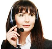 Cheerful support phone operator Stock Photography