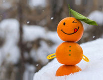 Cheerful tangerine stock photos