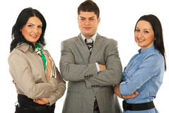 Cheerful team of business people Royalty Free Stock Photos
