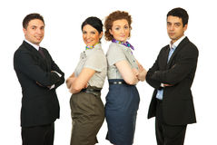 Cheerful team of business people Royalty Free Stock Photography