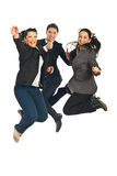 Cheerful teamwork jumping Royalty Free Stock Photo