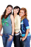 Cheerful teen stock photo