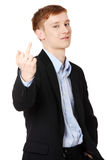 Cheerful teen boy Royalty Free Stock Photography