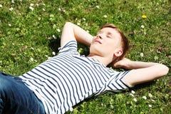 Cheerful teen boy Stock Photos