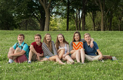 Cheerful Teen Students Royalty Free Stock Photo