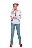 Cheerful teen Ukrainian girl Royalty Free Stock Photography