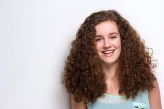 Cheerful teenage girl laughing Stock Image