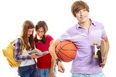 Cheerful teenager Royalty Free Stock Photos