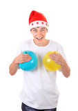 Cheerful Teenager with Balloons Stock Photo
