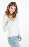 Cheerful teenager girl Royalty Free Stock Photos
