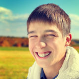Cheerful Teenager Portrait Stock Images