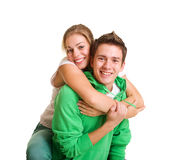 Cheerful teenagers. Portrait of happy cheerful teenagers Stock Image