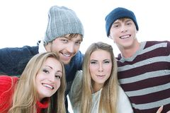 Cheerful teenagers Stock Photos