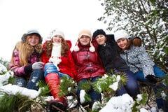 Cheerful teens Stock Image