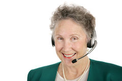 Cheerful Telephone Operator Royalty Free Stock Images
