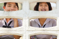 Cheerful Thai pupils Stock Images