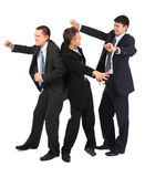 Cheerful three young businessmen Royalty Free Stock Photography