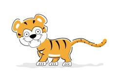Cheerful tiger Royalty Free Stock Image