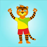 Cheerful tiger Stock Photo