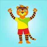 Cheerful tiger Stock Photo
