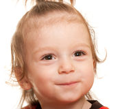 Cheerful toddler with brighten eyes Stock Photos