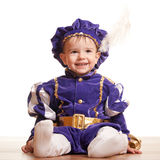 Cheerful toddler in a carnival suit Stock Image