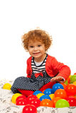 Cheerful toddler girl Royalty Free Stock Photography