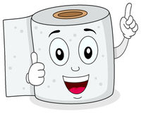 Cheerful Toilet Paper Smiling Character Royalty Free Stock Image