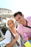 Cheerful tourists in Rome Royalty Free Stock Photography
