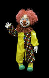 Cheerful toy clown Royalty Free Stock Photo