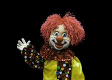 Cheerful toy clown Stock Images