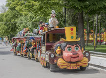 Cheerful train in the park of the Revolution Royalty Free Stock Images