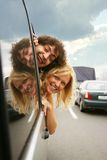 Cheerful travel Royalty Free Stock Images