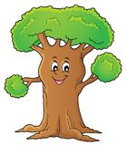 Cheerful tree theme image 1. Eps10 vector illustration royalty free illustration