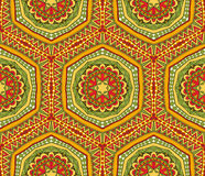 Cheerful Tribal Seamless Pattern. Seamless geometric ethnic pattern. Abstract pattern in bright merry colors. Tribal background ornament Stock Photos