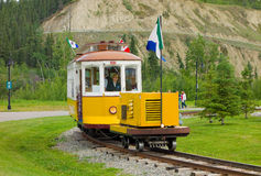 A cheerful  trolley at whitehorse Royalty Free Stock Photo