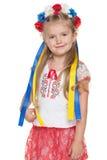 Cheerful Ukrainian girl Stock Photo