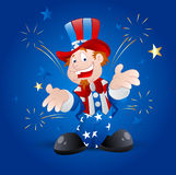 Cheerful Uncle Sam Vector. Vector Illustration of Cartoon Happy Cheerful Patriotic Uncle Sam Character Portrait vector illustration