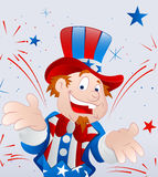 Cheerful Uncle Sam. Vector Illustration of Cheerful Uncle Sam Character Portrait stock illustration