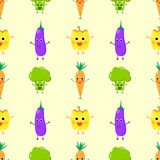 Cheerful vegetables seamless royalty free illustration