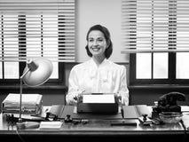 Free Cheerful Vintage Secretary Royalty Free Stock Photography - 47726187