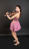 Cheerful violinist Royalty Free Stock Image