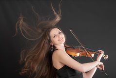 Cheerful violinist Stock Image