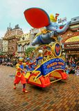 Disney flights of fantasy parade at disneyland, hong kong royalty free stock photos