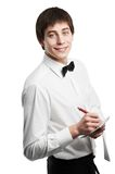 Cheerful waiter Stock Photo